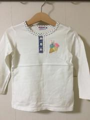 mikihouse、100cm、カットソー、綿、女の子用