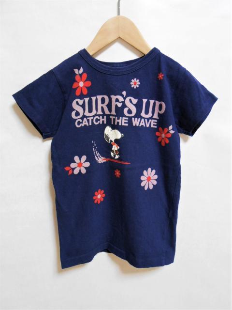 <hr /><br />【キッズ】 アメカジ DENIM&DUNGAREE スヌーピーコラボTシャツ