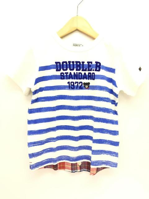 【キッズ】 ミキハウス Double.B ダブルB かっこいいTシャツたっぷり♪