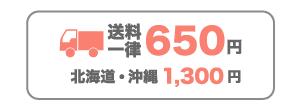 送料650円(北海道・沖縄1,300円)