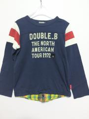 mikihouse DOUBLE.B、120cm、カットソー、綿、男女共用