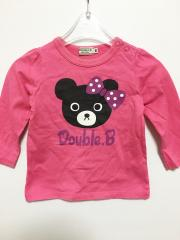 mikihouse DOUBLE.B、80cm、カットソー、綿、女の子用